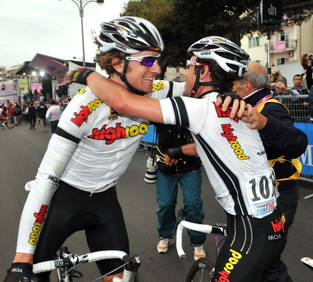 Bradley Wiggins Mark Cavendish Giro stage 4 2008