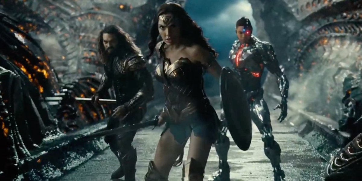 The heroes from Zack Snyder's Justice League.