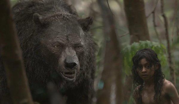 Mowgli: Legend of the Jungle Baloo and Mowgli investigate something in the jungle