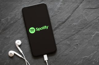 Spotify on an iPhone.