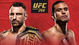 ESPN Plus poster for UFC 266 featuring Alexander Volkanovski and Brian Ortega