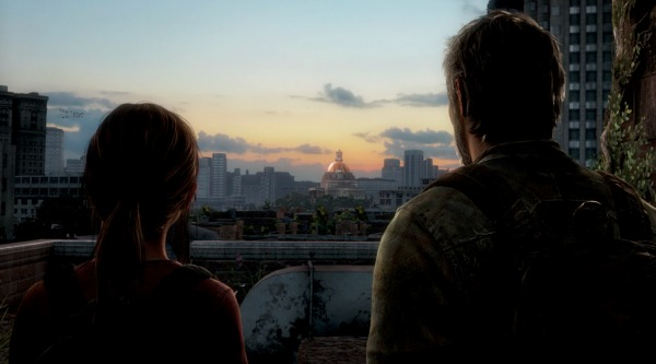 joel and ellie silhouette the last of us