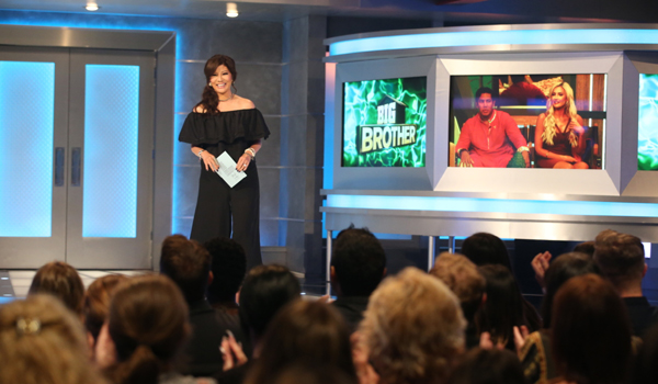 Big Brother 21 host Julie Chen in front of live audience 2019 CBS