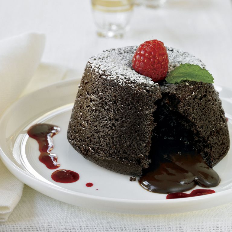 chocolate molten cakes photo
