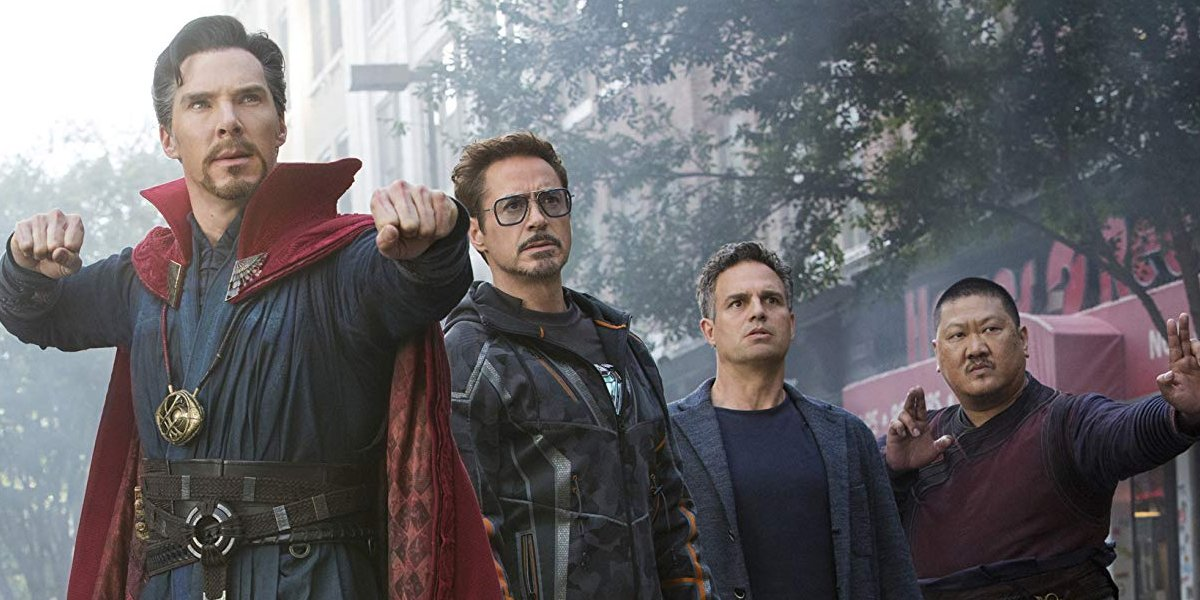 Doctor Strange Iron Man Hulk and Wong In Avengers Infinity War