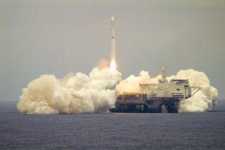 Sea Launch Rocket Hauls New HDTV Satellite into Orbit