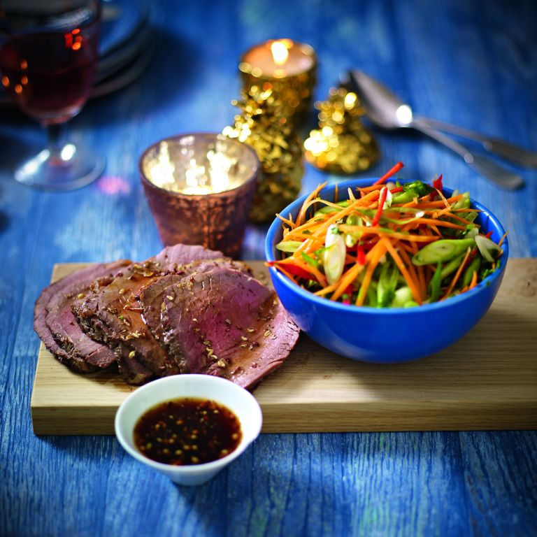 Rare Asian-Style Beef Topside