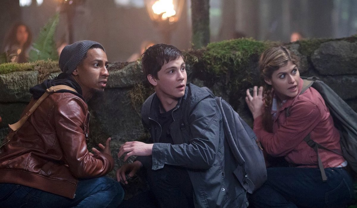 Brandon T. Jackson, Logan Lerman and Alexandra Daddario in Percy Jackson