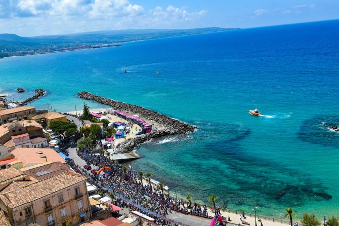 The 2018 Giro d'Italia stage 7 from Pizzo to Praia a Mare