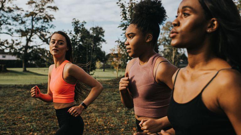 Women running to get fit