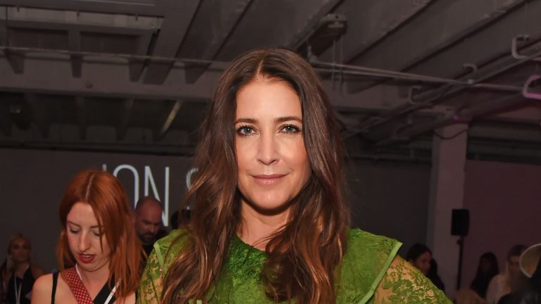 LONDON, ENGLAND - SEPTEMBER 13: Lisa Snowdon attends the Pam Hogg front row during London Fashion Week September 2019 at Victoria House on September 13, 2019 in London, England. (Photo by David M. Benett/Dave Benett/Getty Images)
