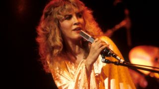 Stevie Nicks performing at the Oakland Coliseum in Oakland, California on her first solo tour on December 3. 1981