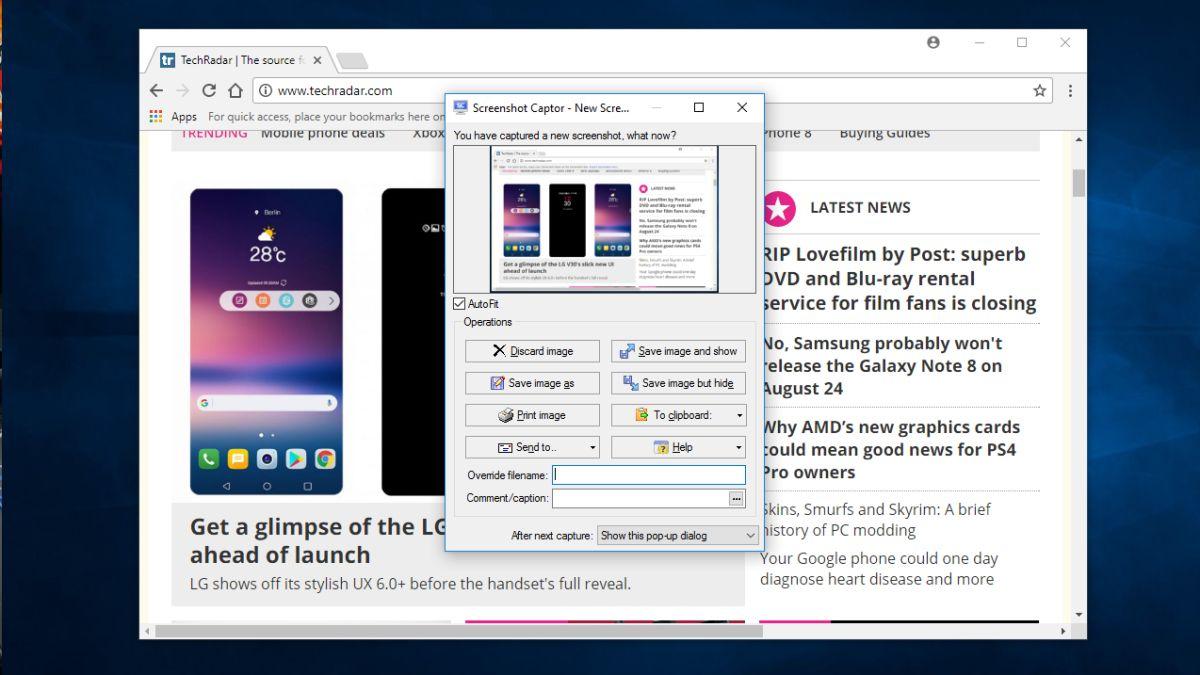 Screenshot Captor review and where to download review | TechRadar