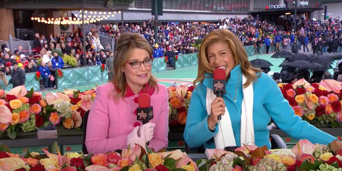 Savannah Guthrie and Hoda Kotb at the 2019 Macy's Thanksgiving Day Parade