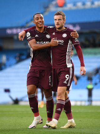 Youri Tielemans praised match-winner Jamie Vardy following Leicester's victory at Arsenal.