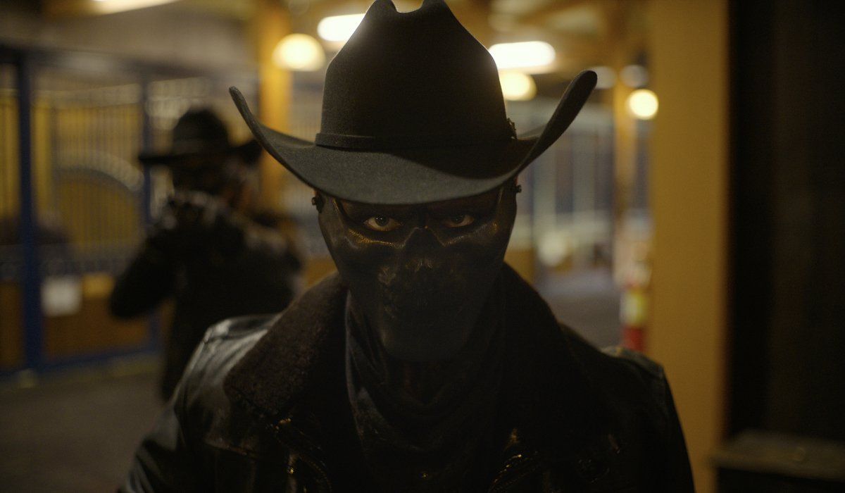 A mysterious masked cowboy in The Forever Purge.