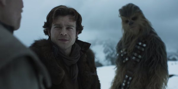 Solo a star wars story han chebacca tobias beckett snow planet