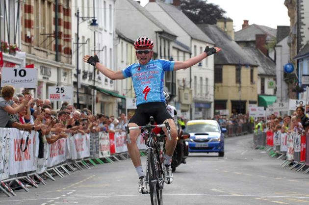 cd72d8fa7 George Atkins won the junior road race in Abergvenny today