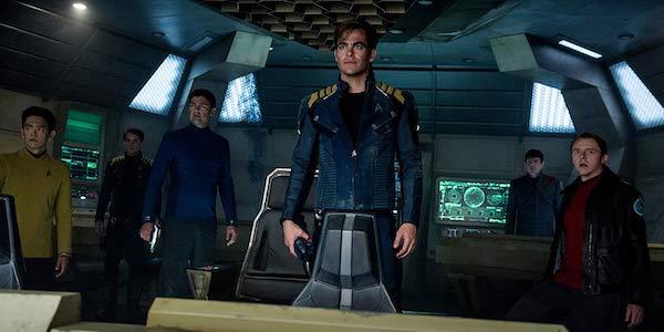 Star Trek Beyond crew John Cho, Anton Yelchin, Karl Urban, Chris Pine, Zachary Quinto, Simon Pegg