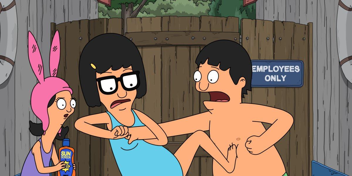 Louise, Gene and Tina in Bob's Burgers.
