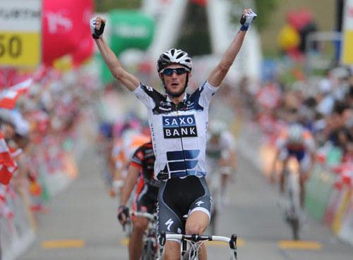Frank Schleck wins, Tour de Suisse 2010, stage 3