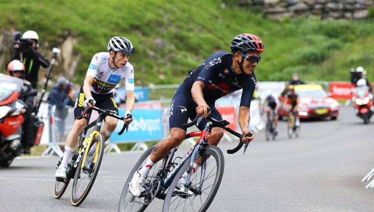 Richard Carapaz sits third after the final mountain stage