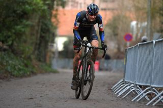 OVERIJSE BELGIUM JANUARY 24 Toon Aerts of Belgium and Team Baloise Trek Lions during the 61st Druivencross World Cup 2021 Mens Elite UCICX CXWorldCup Ostend2021 on January 24 2021 in Overijse Belgium Photo by Luc ClaessenGetty Images
