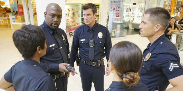 The Rookie Richard T. Jones Wade Grey Afton Williamson Talia Bishop Nathan Fillion John Nolan Eric W