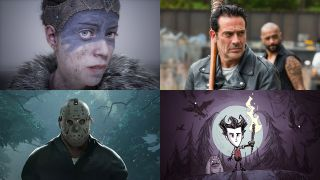 Hellblade, The Walking Dead, Friday the 13th and Don't Starve