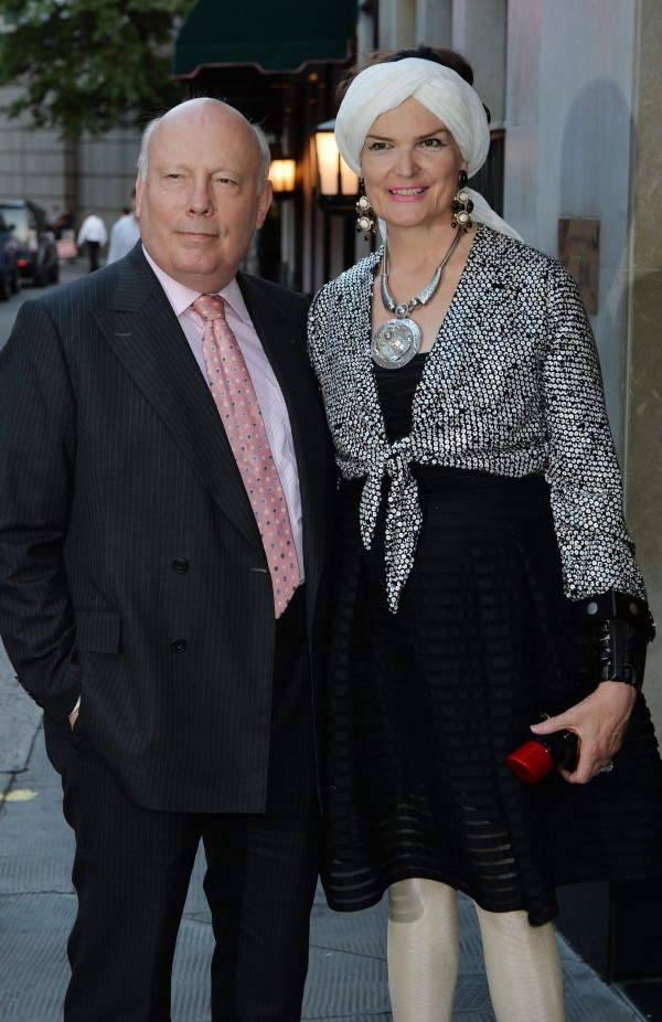 Downton Abbey writer Julian Fellowes and his wife Emma Joy Kitchener