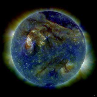 solar flare multi-wavelength extreme ultraviolet image