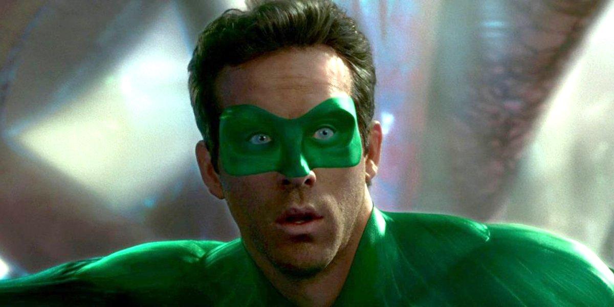 Ryan Reynolds looks surprised as Green Lantern Warner Bros. DC