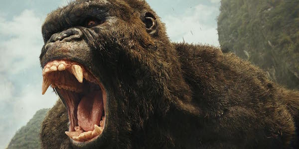 King Kong roaring in Skull Island