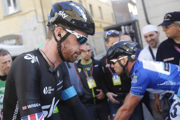 Bradley Wiggins before the start of Stage 2 of the 2014 Tirreno Adriatico