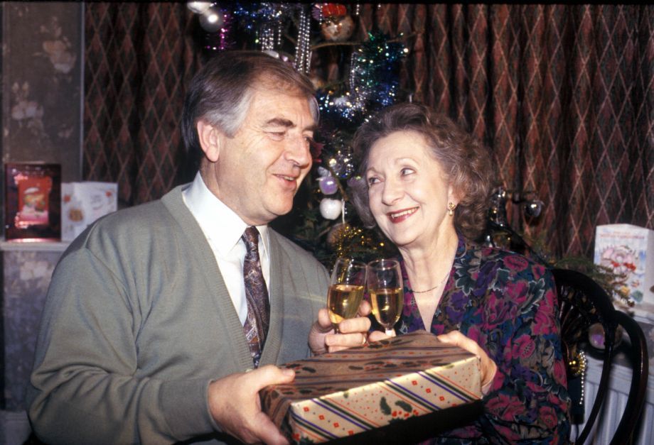 Mavis and Derek's Coronation Street Christmas in 1992