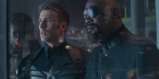 Chris Evans and Samuel L. Jackson in Captain America: The Winter Soldier