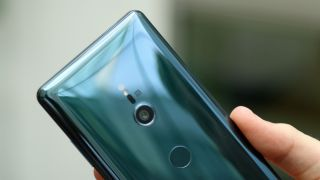 The Sony Xperia XZ3's fingerprint scanner placement isn't great