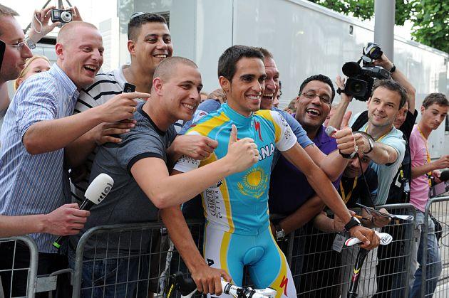 Alberto Contador Astana Tour de France 2010 team presentation Rotterdam [2].jpg
