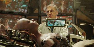 Alita: Battle Angel Dr. Ido examine's Alita's remains