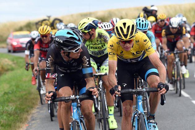 3e3497da4 Chris Froome hit with urine as Tour de France fans get nasty ...