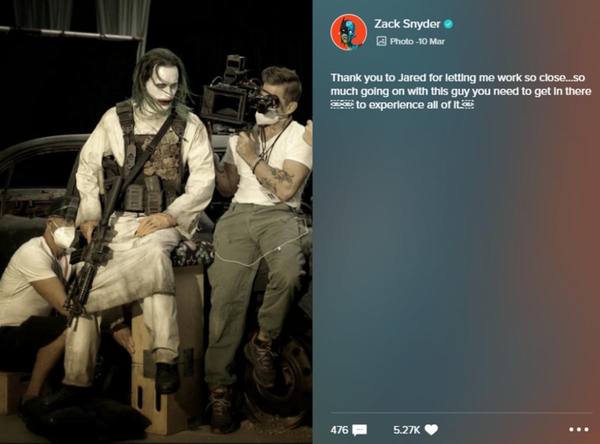 Zack Snyder's Vero post