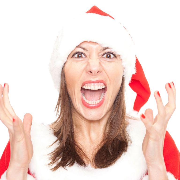 angry woman christmas