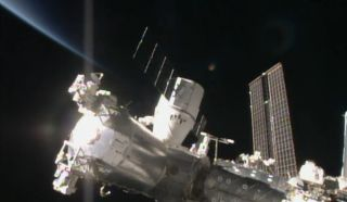 SpaceX Dragon Capsule Bolted to International Space Station