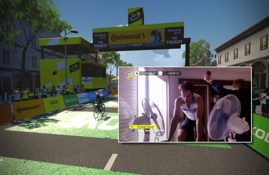 Freddy Ovett takes win for Israel Start-Up Nation on stage four of virtual Tour de France
