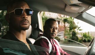 Bad Boys For Life Will Smith and Martin Lawrence looking out of their car