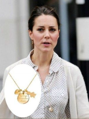 Kate Middleton wearing The Duchess necklace by Merci Maman