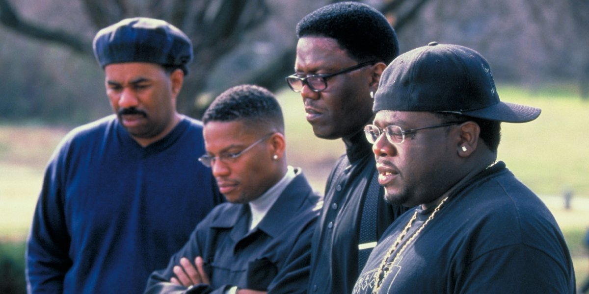 Steve Harvey, D.L. Hughley, Bernie Mac, and Cedric The Entertainer in The Original Kings of Comedy