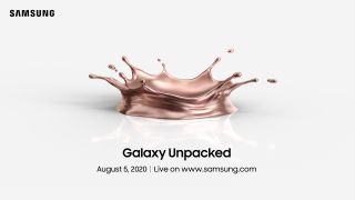 Samsung Galaxy Unpacked invite 2020