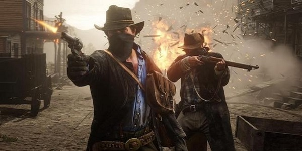 Cowboys open fire Red Dead Redemption 2