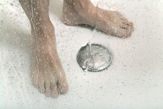 feet in a shower